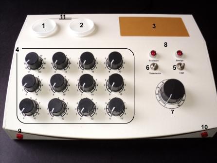 aparelho radionico órion frequências
